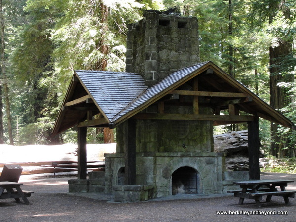 AVENUE OF GIANTS-WEOTT-Humboldt Redwoods State Park-Womens Fed Grove-Julia Morgan fireplace-c2015 Carole Terwilliger Meyers-600pix