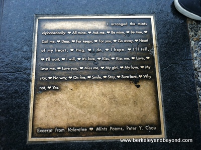 SF-F Car-Ferry Building stop-LOVE plaque-c2014 Carole Terwilliger Meyers-iPhone-2-6-14-400pix