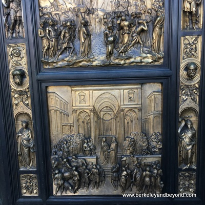"SF-Nob Hill-Grace Cathedral-exterior-replicas of Lorenzo Ghiberti's ""Doors of Paradise""-c2017 Carole Terwilliger Meyers-400pix"