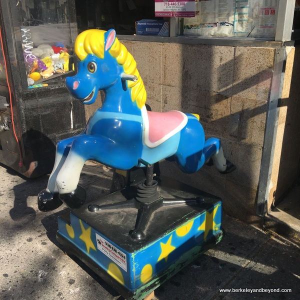 QUEENS-kiddie ride series-10-blue horse 2-Jackson Heights-c2017 Carole Terwilliger Meyers-600pix