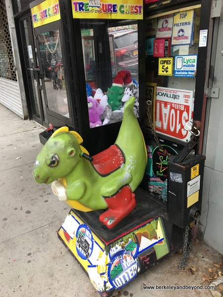 QUEENS-kiddie ride series-4-green dinosaur-Jackson Heights-c2016 Carole Terwilliger Meyers-600pix