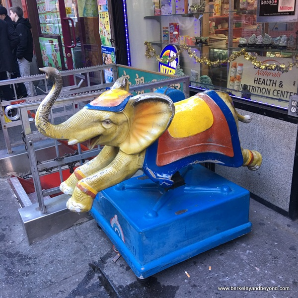 QUEENS-kiddie ride series-6-yellow elephant-Manhattan-Chinatown-c2016 Carole Terwilliger Meyers-600pix