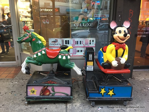 QUEENS-kiddie ride series-7-green horse+yellow mouse-Jackson Heights-c2016 Carole Terwilliger Meyers-600pix