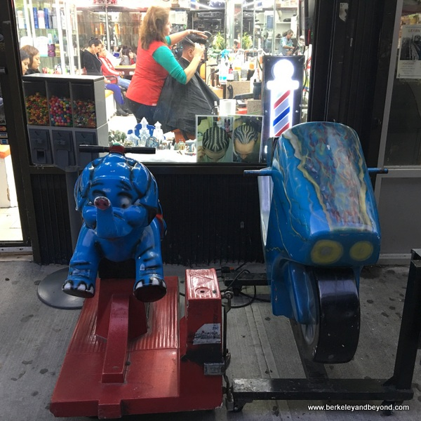 QUEENS-kiddie ride series-8-blue elephant+blue motorcycle 1-Jackson Heights-c2016 Carole Terwilliger Meyers-600pix
