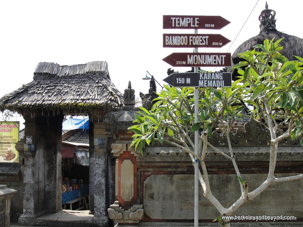 5-signposts-INDONESIA-Bali-2-Penglipuran Traditional Village-c2015 Carole Terwilliger Meyers-600pix