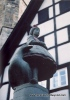 GERMANY-Fairy Tale Road-Alsfeld-Little Red Riding Hood statue-scan-cCaroleTerwilligerMeyers-100pix