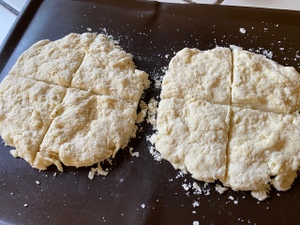 RECIPE-Amazon Scones-patted out-c2020 Carole Terwilliger Meyers