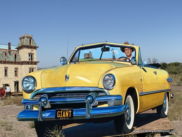 TEXAS-WEST_TEXAS-Big_Art-Giant_movie_set-Rock_Hudson+yellow_convertible_2-c2019_Carole_Terwilliger_Meyers-600pix
